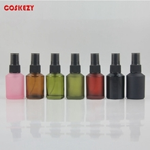 30ml Colored Glass Perfume Bottle with Black Plastic Cover