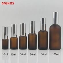 Wholesale Beauty Glass Bottle Set with Silver Aluminium Cap
