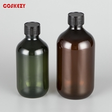 300ml 500ml Olive or Amber PET Round Essential Bottle