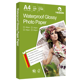 Yesion A4 glossy photo paper for inkjet printer