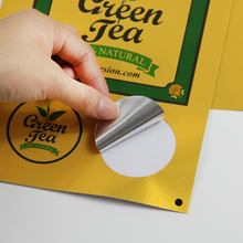 Inkjet waterproof  bright gold PET sticker paper