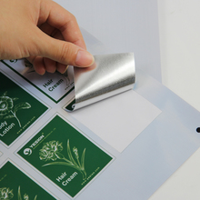 Inkjet waterproof  brushed silver PET sticker paper