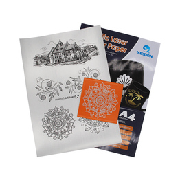 laser transfer paper on uncoated color hard surfaces